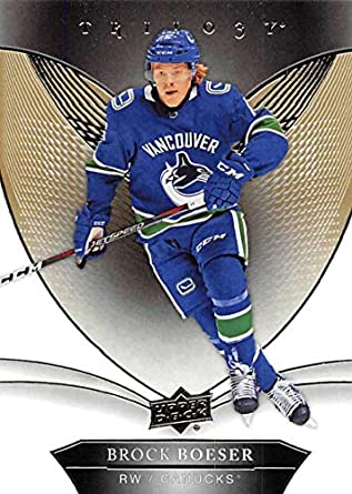2018-19 Upper Deck Trilogy Hockey  2 Brock Boeser Vancouver Canucks  Official Trading Card 66e5cc405