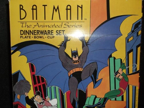 Batman The Animated Series Dinnerware Set 1992 by Zak Designs