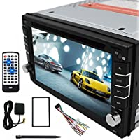 Alling 6.2 Inch 2 Din Car GPS Navigation System In Dash Touch Screen Car Stereo DVD Player with Bluetooth V3.0 USB SD TFT-LCD screen,3D map, voice guidance