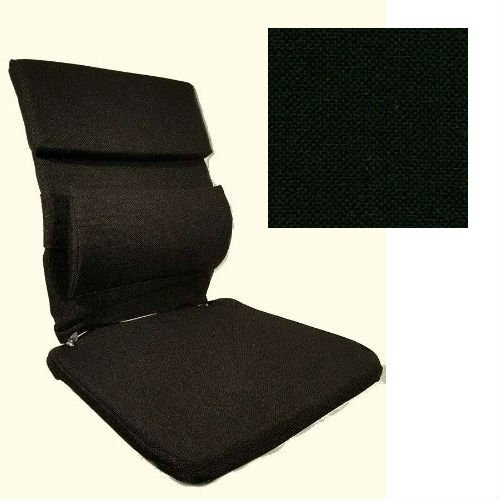 Mc Carty's Sacro-Ease Deluxe Model Lumbar Seat Support with Extra Padding, 15-Inch Wide, Black, Plus Upper Back Pad