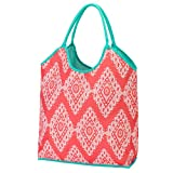 Cheap 2017 High Fashion Print Water Resistant Extra Large Beach Bag Tote (Coral Cove)