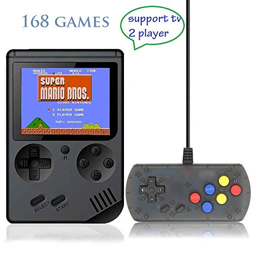 Retro Handheld Game Console FC System Plus Extra Joystick Portable Mini Controller 3 Inch Support TV 2 Player 168 Classic Game Console Present for Boy Kids Adult (Best Handheld Game System For A 5 Year Old)