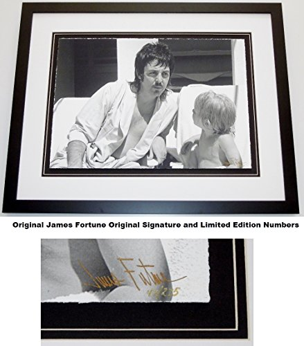Paul McCartney - James Fortune Signed - Autographed Limited Edition Fine Art Giclee Lithograph Photo Print - Black Frame - measures 23x29 inches - Custom Frame - The Beatles - Wings