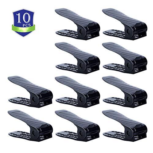 - CHAIRLIN Shoe Slots Holder,Adjustable Shoes Slots Space Saver,Shoe Slots Organizer,Shoe Rack Set,Shoe Slots 10 PCS Black