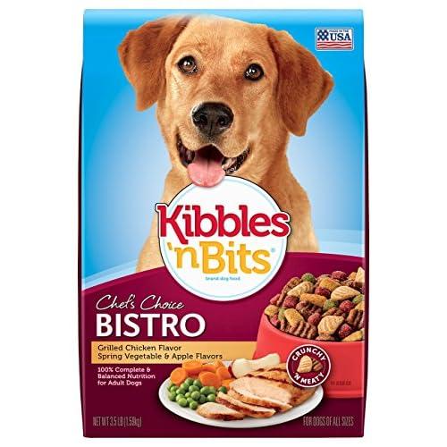 Kibbles 'n Bits Bistro Grilled Chicken Flavor Dry Dog Food, 3.5 lb, 6 Pack