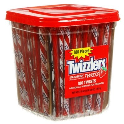 Twizzlers- Red Licorice Strawberry Twists, 180ct