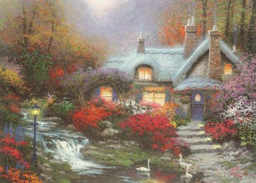 Thomas Kinkade - Evening At Swanbrooke Cottage 1000pc Jigsaw