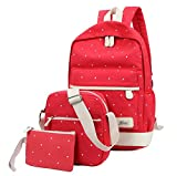 Freedi Canvas Laptop Bag Shoulder Crossbody Bag School Backpack Purse Cute Lightweight 1 Set
