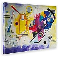 GIALLO BUS - Quadro - Stampa su Tela Canvas - Kandinsky - Giallo Rosso Blu