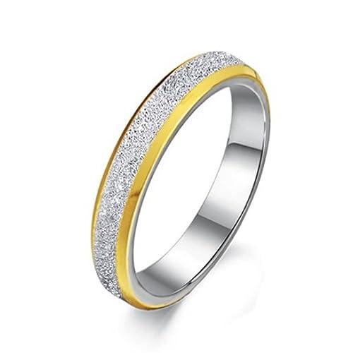 negozio ufficiale nuovo elenco disponibilità nel Regno Unito Elove moda gioielli anelli placcati oro satinato opaco in ...