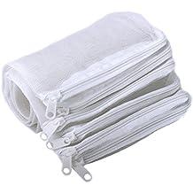 Segarty Filter Media Bags, 10 Pack Aquarium Nylon Mesh Bags with Plastic Zipper, Fish Tank Net Bags for Pellet Carbon, Bio Balls, Ceramic Rings, Ammonia Remover, White