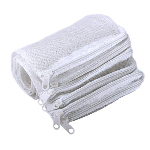 Segarty 10 Pack Aquarium Filter Media Bag Nylon Mesh Bag Net Bag with Plastic Zipper, (Rock Zipper)