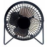 LavoHome 4'' High Velocity Personal Office Mini Fan, Black