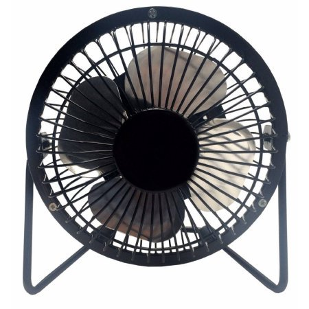 LavoHome 4'' High Velocity Personal Office Mini Fan, Black by Generic