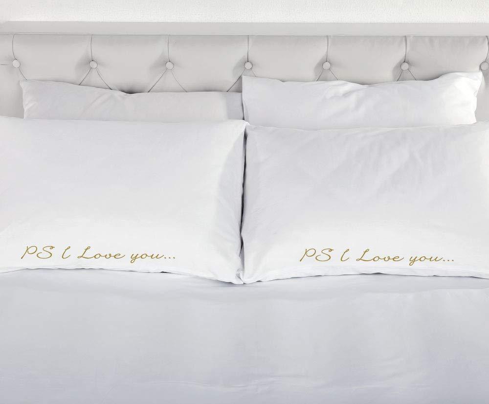 Amazon.com: PS I Love You Funda de almohada color Blanco con ...