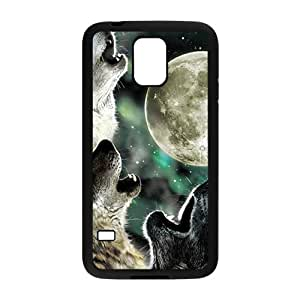 DAZHAHUI Howling under moon Sirius Cell Phone Case for Samsung Galaxy S5