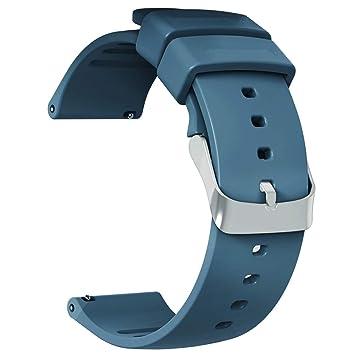 JIELIELE Correa de Silicona Suave 22mm, Clásico Correa de Reloj de Repuesto Pulsera con Hebilla para LG Watch (22mm, Navy Blue): Amazon.es: Electrónica