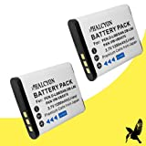 Two Halcyon 1200 mAH Lithium Ion Replacement Battery for Sanyo DB-L80 and Sanyo VPC-CA100, VPC-CA102, VPC-CG10, VPC-CG100, VPC-CG20, VPC-CS1 , VPC-GH1, VPC-GH2, VPC-GH3, VPC-GH4, VPC-PD1, VPC-PD2 Digital Camcorder