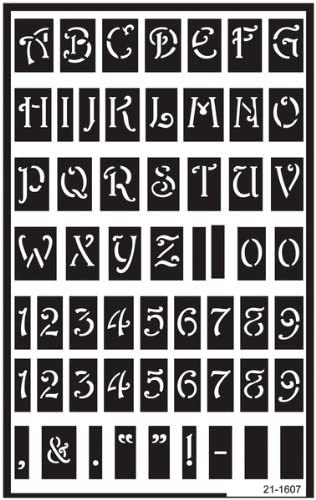 3 Sheets Armour Products Etch Over N Over Stencil with 1.5-Inch Letters
