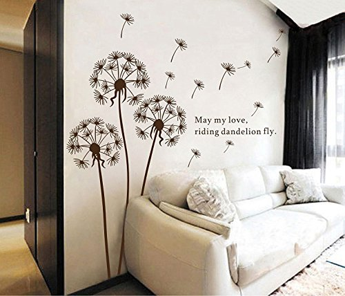 Cheap  Sangu Love Dandelion Fly Removable Mural Wall Stickers Wall Decal for Home..