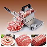 LOOYUAN Manual Control Frozen Meat Slicer Stainless Steel Cutting Beef Mutton Vegetable Meat Cheese Food Slicing Machine for Home Kitchen