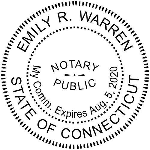 Round Notary Pre-inked Stamp for State of Connecticut- Customized in one day with (Stamps Round Pre Inked)