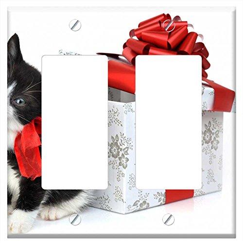 Weir Plate (WaPlate - Christmas Kitten for Weir! - Switch Plate Double)