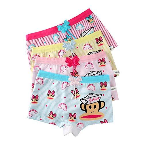 USex Sense 12er Pack sportliche Mädchen Pantys Hipster Shorts Süß Unterwäsche Größe 3 - 12 Jahre (M 4-6Jahre, Mehrfarbig 1617)