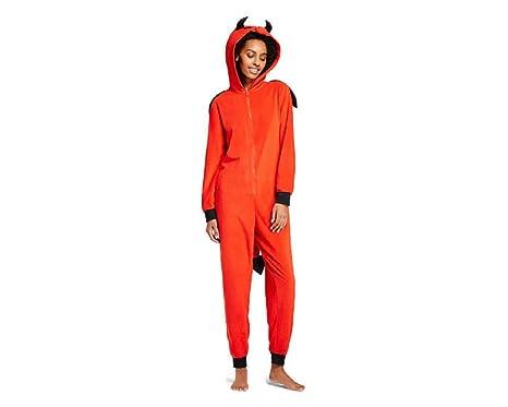 fc7a6d4afa2f Amazon.com: Xhilaration Women's Devil Union Suit with Hood and Tail ...
