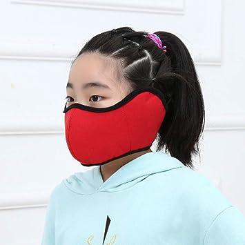 Orejeras que montan máscaras a prueba de viento, algodón de otoño e invierno orejeras frías y cálidas que montan una máscara protectora a prueba de viento-red: Amazon.es: Salud y cuidado personal