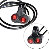 Motorcycle Handlebar Double Control Button Switch Headlight Hazard Brake Fog Light ON OFF Switches With Indicator Light?#2