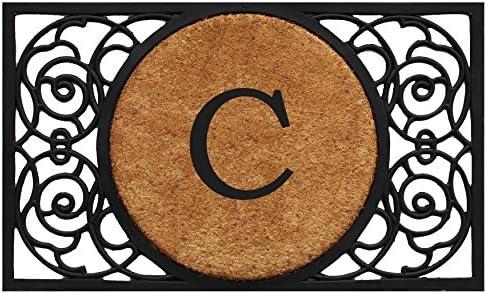 Calloway Mills 180032236C Armada Circle Monogram Doormat 22 x 36 Letter C