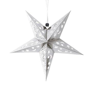 Papiersterne Weihnachtsbeleuchtung.Faltsterne Bbtxs Weihnachtsstern Papiersterne Papierstern Romantische Weihnachten String Hanging Charm Star Party Dekoration Weihnachtsbaum Ornament