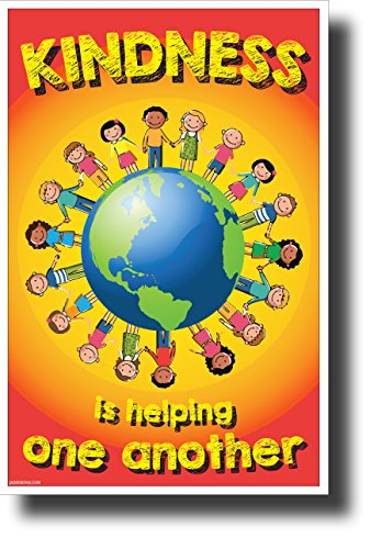 Kindness is Helping One Another - New Motivational Classroom Poster