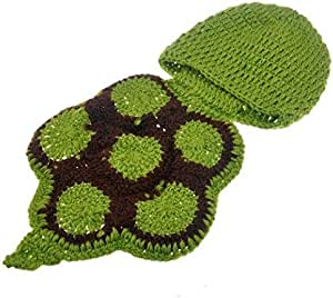 Turtle costume for newborns, photography suitable for children from the age of 1 to 6 months