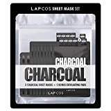 Lapcos Charcoal Sheet Mask 8 Pack + 2 Exfoliating Pads
