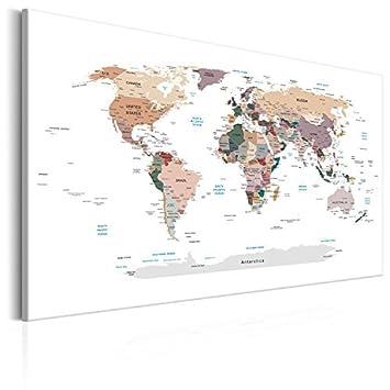 amazon 現代キャンバス壁artpinboardマップ40 x 60 cmのプリント不織布