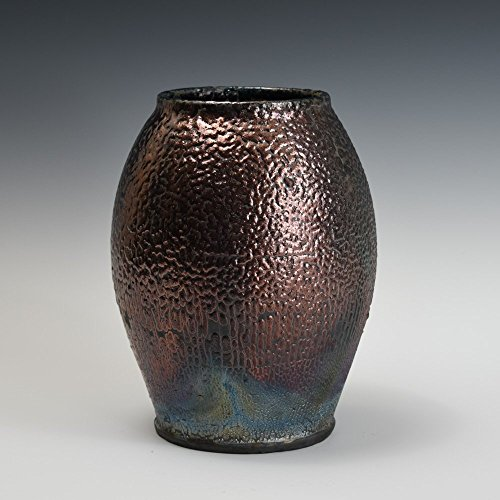 raku-handmade-wheel-thrown-pot-vase-brown-metallic-textured-glazed-pottery-gift-home-decor-art-ikeba