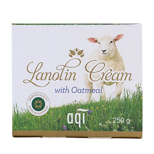 Lanolin Cream for Dry, Irritated & Normal Skin 8.8 fl oz - Light, Absorbing, Nourishing & Moisturizing Natural cream for Men & Women - Cruelty Free Cream - Made in Australia By AQI -