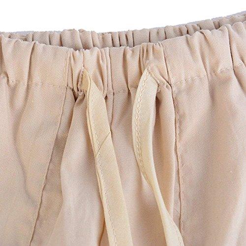 Pantaloni Libero Giovane Casual Pantalone Grazioso Autunno Donna Sciolto Khaki Stampato Pantaloni Lunga Women Vita Pantaloni Con Elastico Larghi Primaverile Alta Vita Yasminey Tempo In 6wRq5S7w