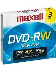 Maxell 3-Pack 4.7GB 2x DVDRW 635123