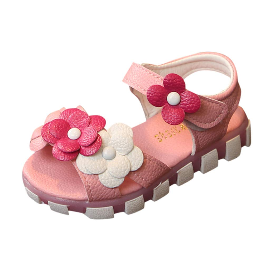 IAMUP Childrens Shoes Girls Flowers Soft Bottom Princess Shoes Single Shoes Sandals