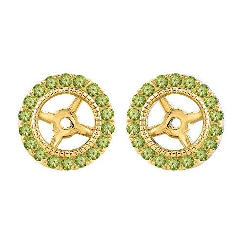 - KATARINA Peridot Earring Jackets in 14K Yellow Gold (1/3 cttw)