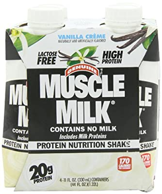 Cytosport Muscle Milk, Vanilla Creme, 11-Ounce Servings, (Pack of 24) by Cytosport