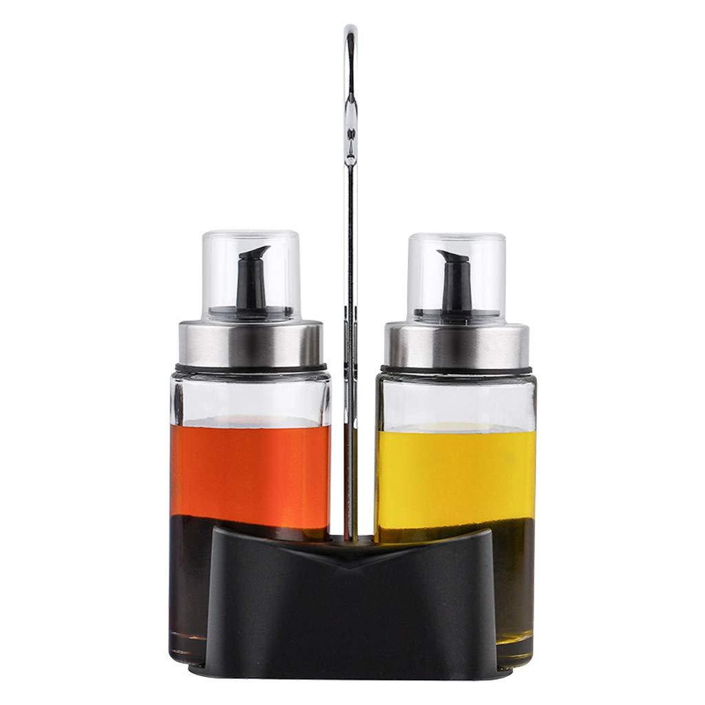 Goquik Set Oil Pot Glass Leakproof Household Small Sesame Oil Bottle Soy Sauce Bottle Vinegar Bottle Seasoning Bottle Oil Bottle (Size : B) by Goquik