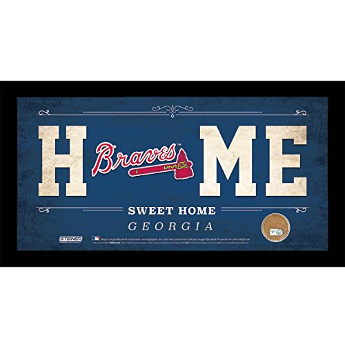 mlb-atlanta-braves-home-sweet-home-sign-with-game-used-dirt-from-turner-field-6-x-12-blue