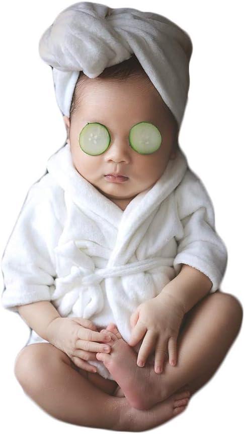 Bianco Puntelli di fotografia del bambino Accappatoio neonato del costume del puntello della foto della ragazza del ragazzo del servizio fotografico