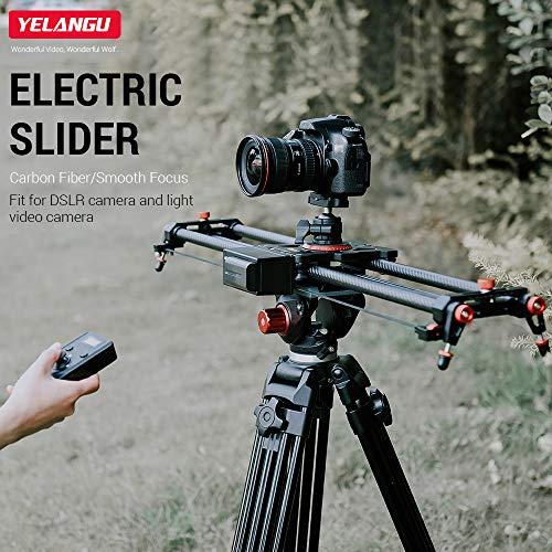 "L80Rc,Phomnd L80RC 80cm/31.5-"" Carbon Fiber Electric Slider 2.4G Wireless Control Video Track Slider Smooth Focus with Remote Control F550 Lithium Battery for DSLR ILDC Cameras Lightweight Camcorders"