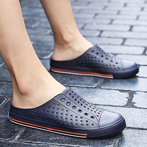 Creazrise Couple Summer Hole Flats Breathable Antiskid Light Slippers Beach Soft Bottom Shoes Dark Blue by Creazrise Mens (Image #3)