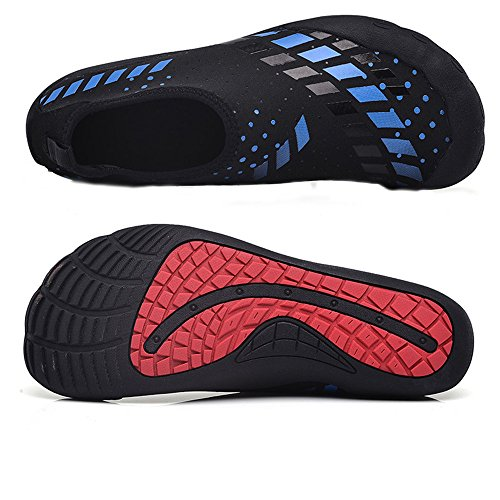 Jackshibo Water Sportschoenen, Quick-dry Aqua Sok Atletische Lichtgewicht Zwemshuid Schoenen Voor Beach Surf Yoga Blue1